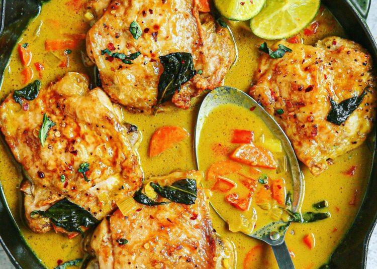 Filetes de pollo en salsa de cacahuete y chile: disfruta de este plato guisado y jugoso en 5 pasos